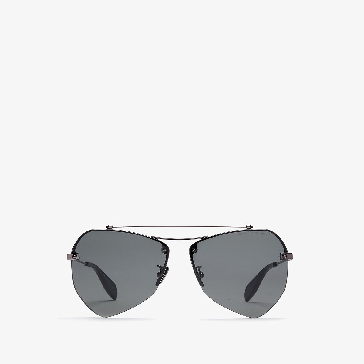 Alexander McQueen - AM0121SA (Dark Ruthenium/Grey) Fashion Sunglasses