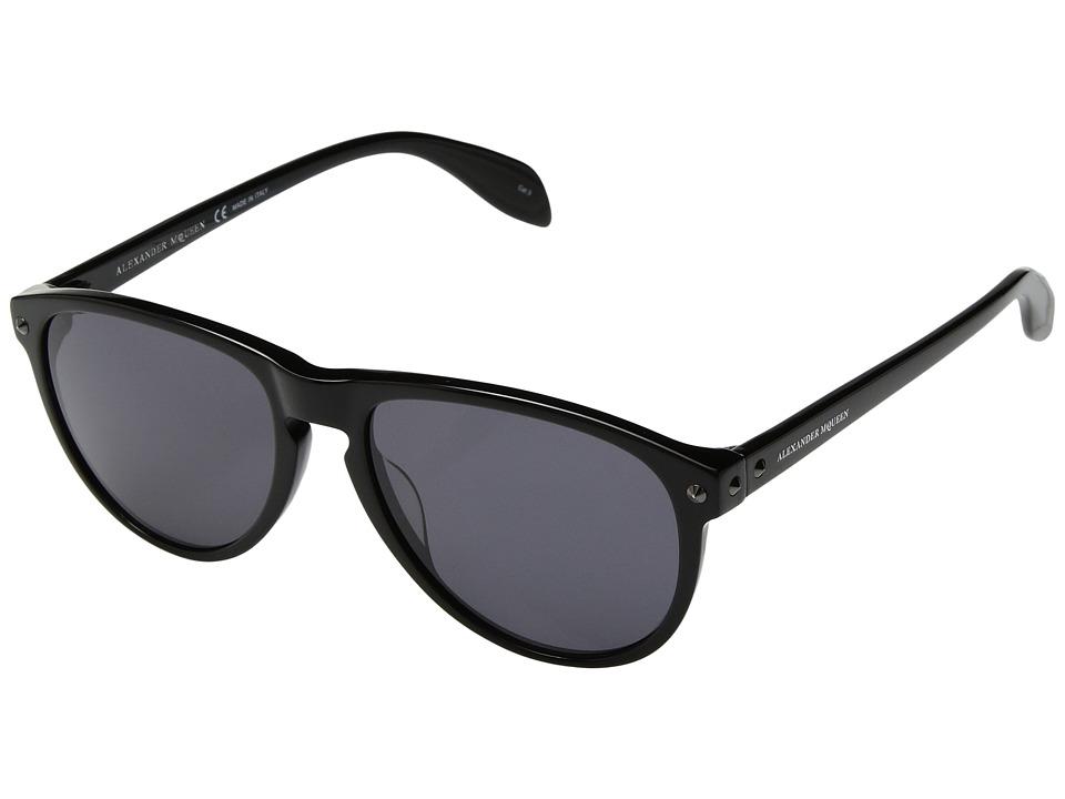 Alexander McQueen - AM0098SM (Black/Grey) Fashion Sunglasses
