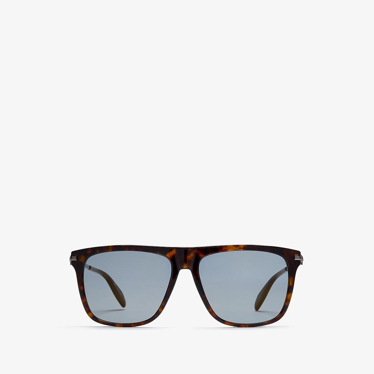 Alexander McQueen - AM0106SM (Havana/Bronze) Fashion Sunglasses
