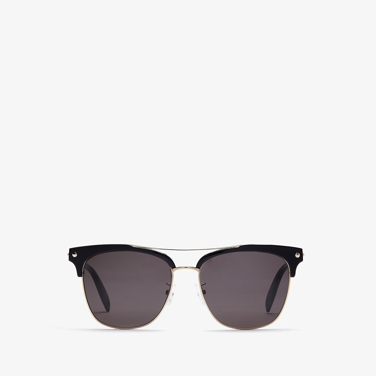 Alexander McQueen - AM0126SKM (Black/Grey) Fashion Sunglasses