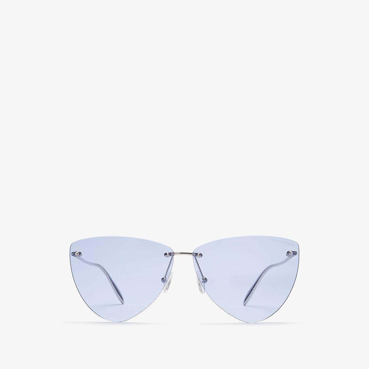 Alexander McQueen - AM0103S (Silver/Violet) Fashion Sunglasses