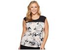 Calvin Klein Plus Plus Size Sleeveless Top w/ Horizontal Zips