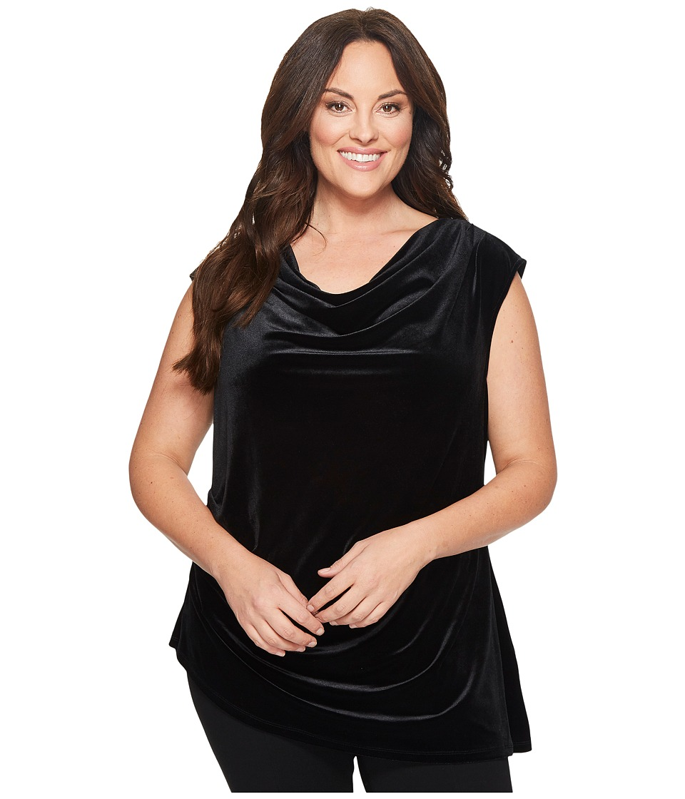 Calvin Klein Plus - Plus Size Velvet Top w/ Angle Bottom ...