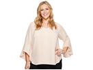 Calvin Klein Plus Plus Size Flare Sleeve V-Neck Blouse