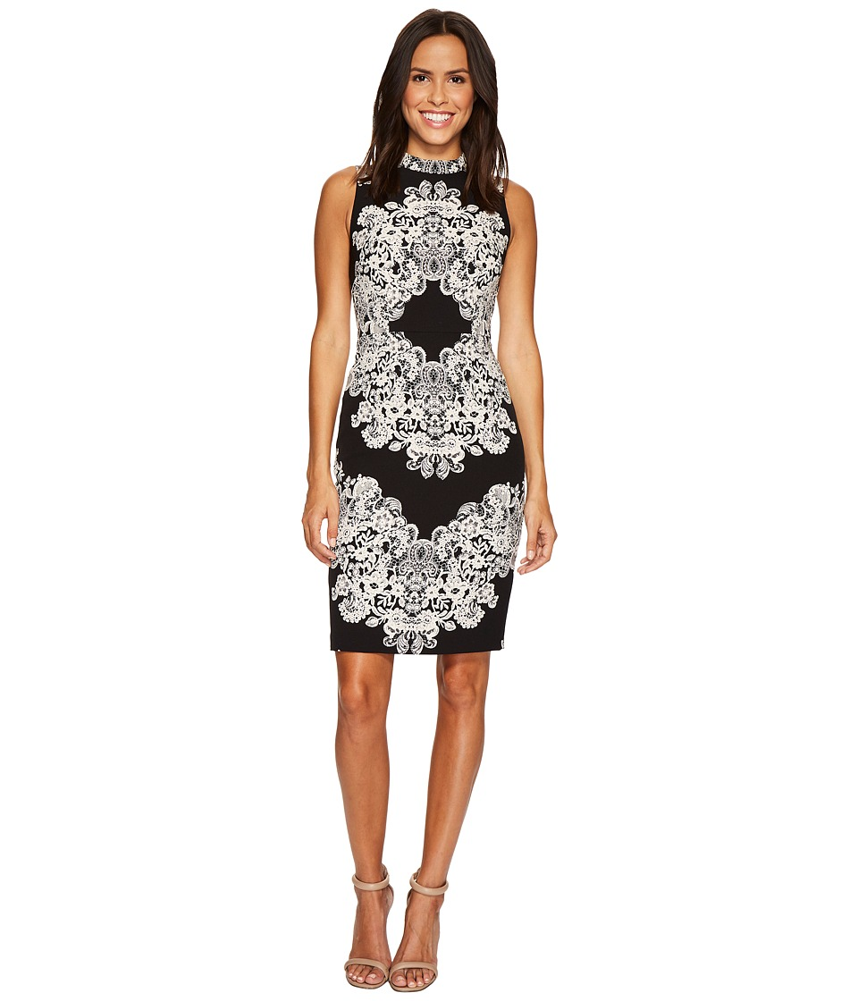 Adrianna Papell - Lace Printed Mock Neck