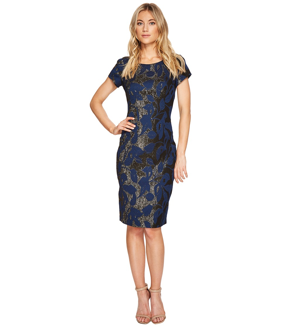 Adrianna Papell - Metallic Jacquard Sheath Dress