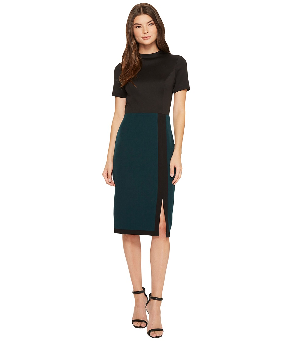 Adrianna Papell - Scuba and Crepe Color Blocked Sheath