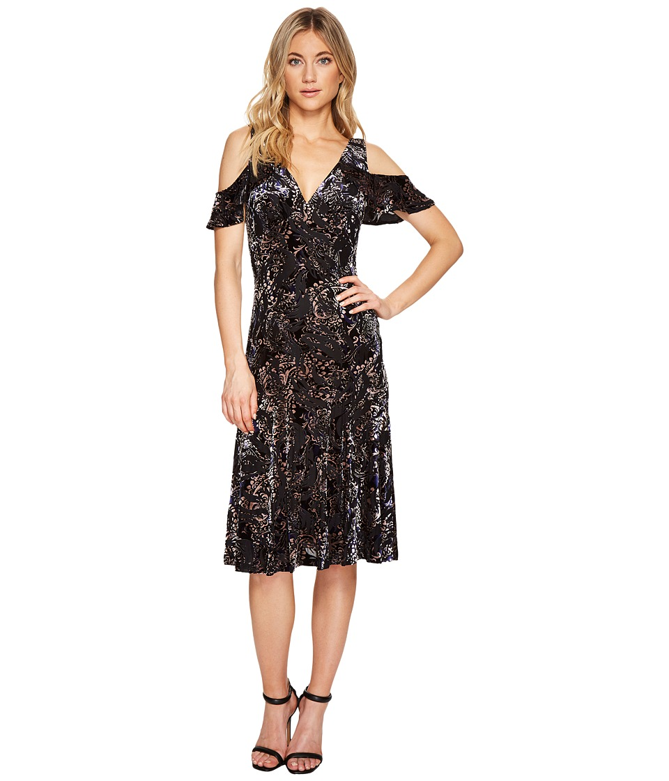 Adrianna Papell - Velvet Burnout Midi Dress