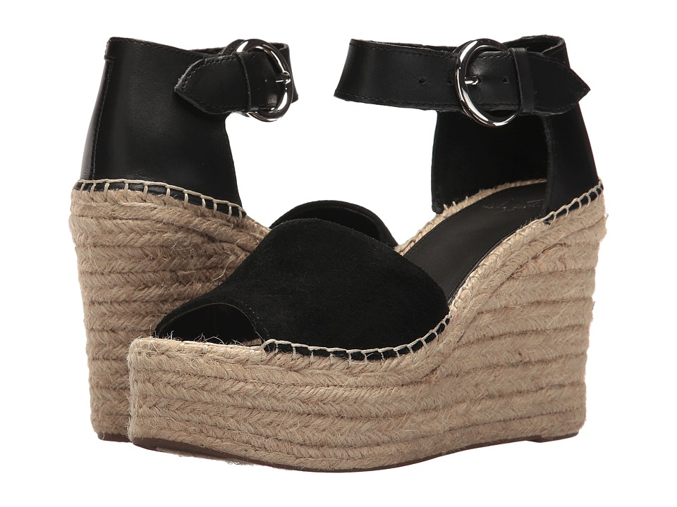 Marc Fisher LTD Alida Espadrille Wedge (Black Multi Suede) Women's Shoes