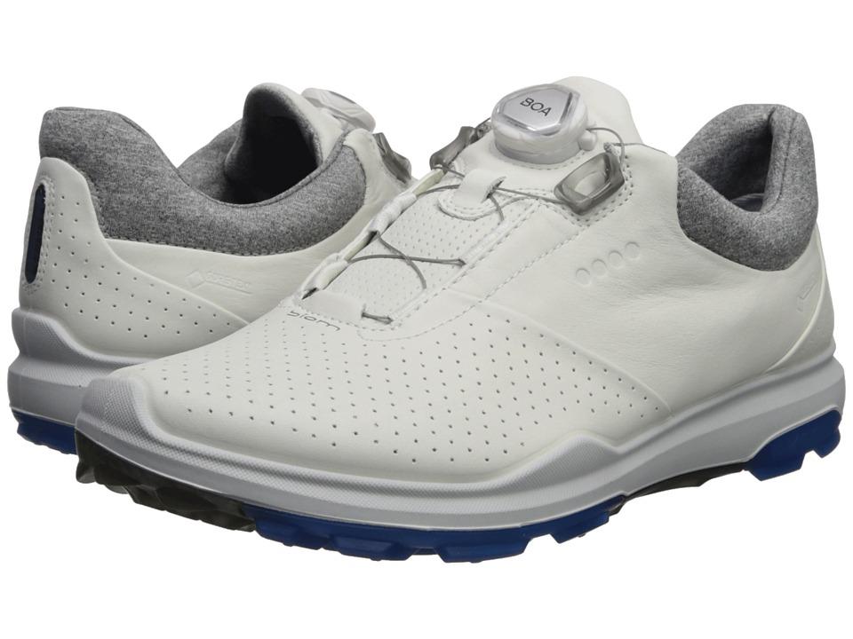 Ecco Golf - Biom Hybrid 3 Boa (White/Dynasty) Men's Golf ...