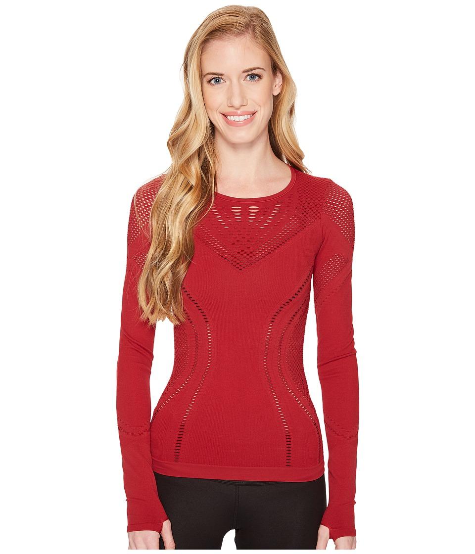 ALO - Lark Long Sleeve (Crimson) Womens Clothing