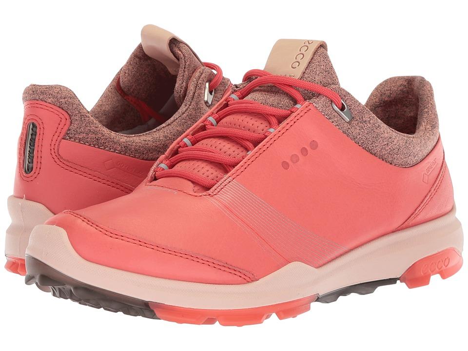 ECCO Golf Biom Hybrid 3 GTX (Spiced Coral/Spiced Coral) Women's Golf Shoes
