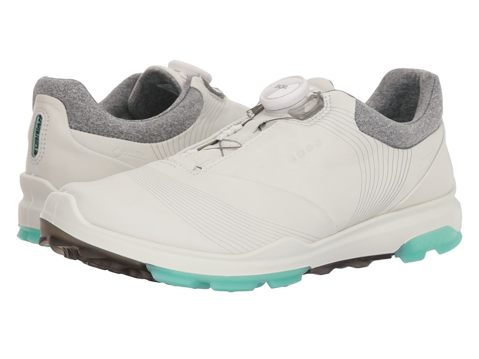 ECCO Golf Biom Hybrid 3 Boa (White/Emerald) Women's Golf Shoes