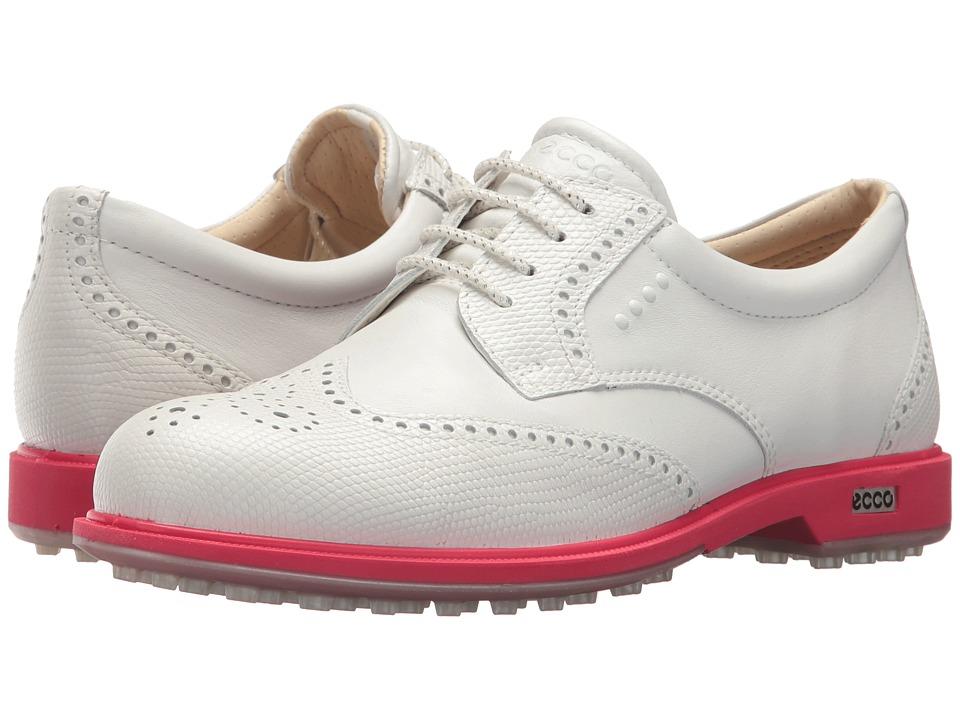 ECCO Golf Classic Golf Hybrid (White/Teaberry) Women's Golf Shoes