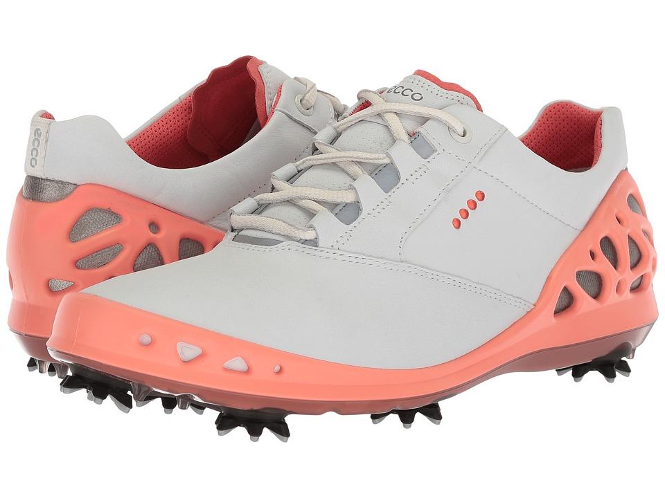 ECCO Golf Cage GTX (White/Coral) Women's Golf Shoes