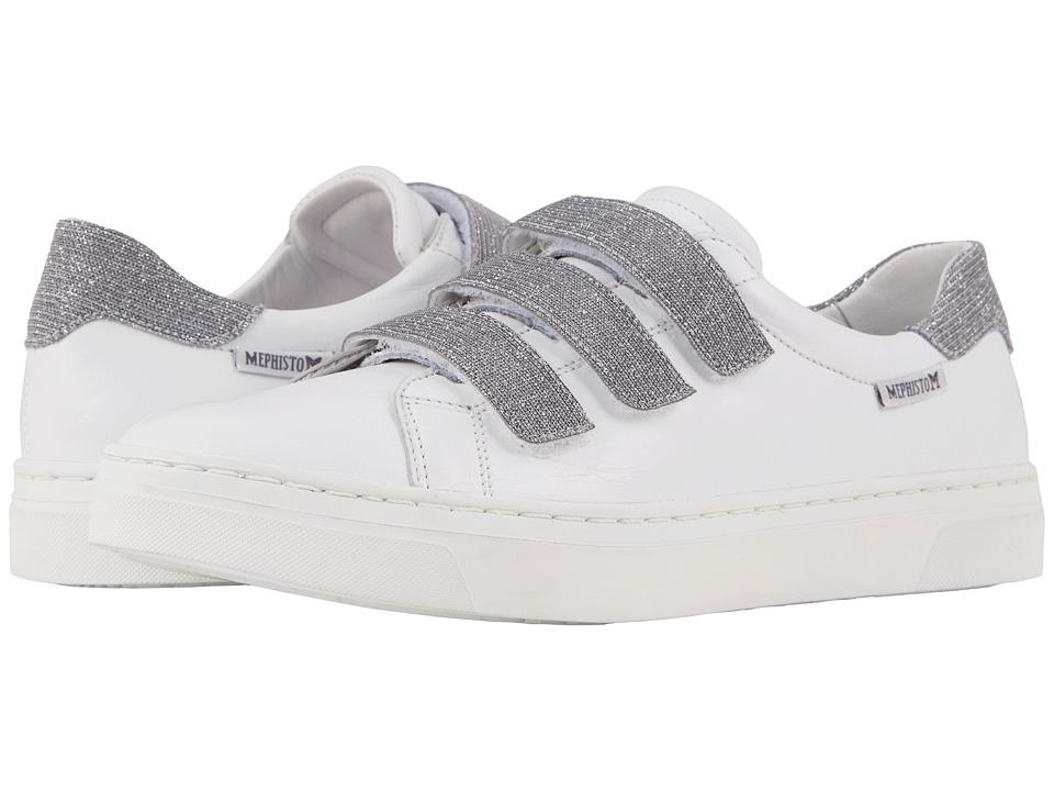 Mephisto - Annabella (White Silk/Argento) Womens  Shoes