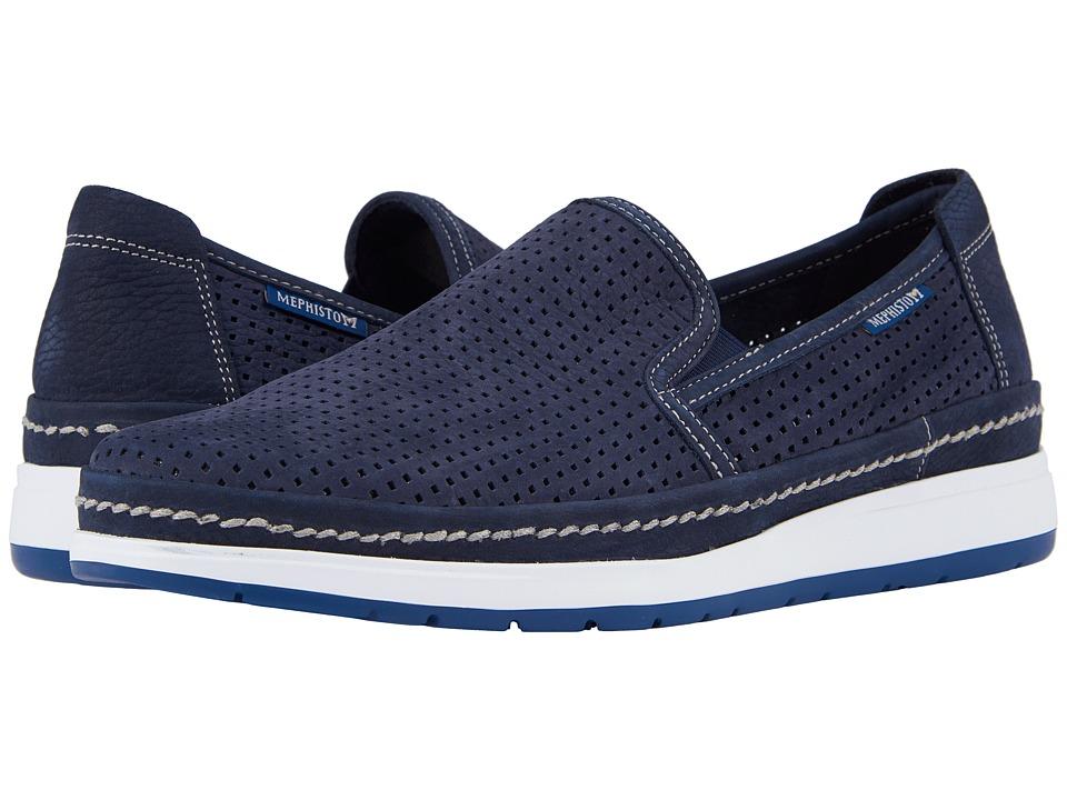 Mephisto - Hadrian Perf (Navy Sportbuck) Mens Slip on  Shoes