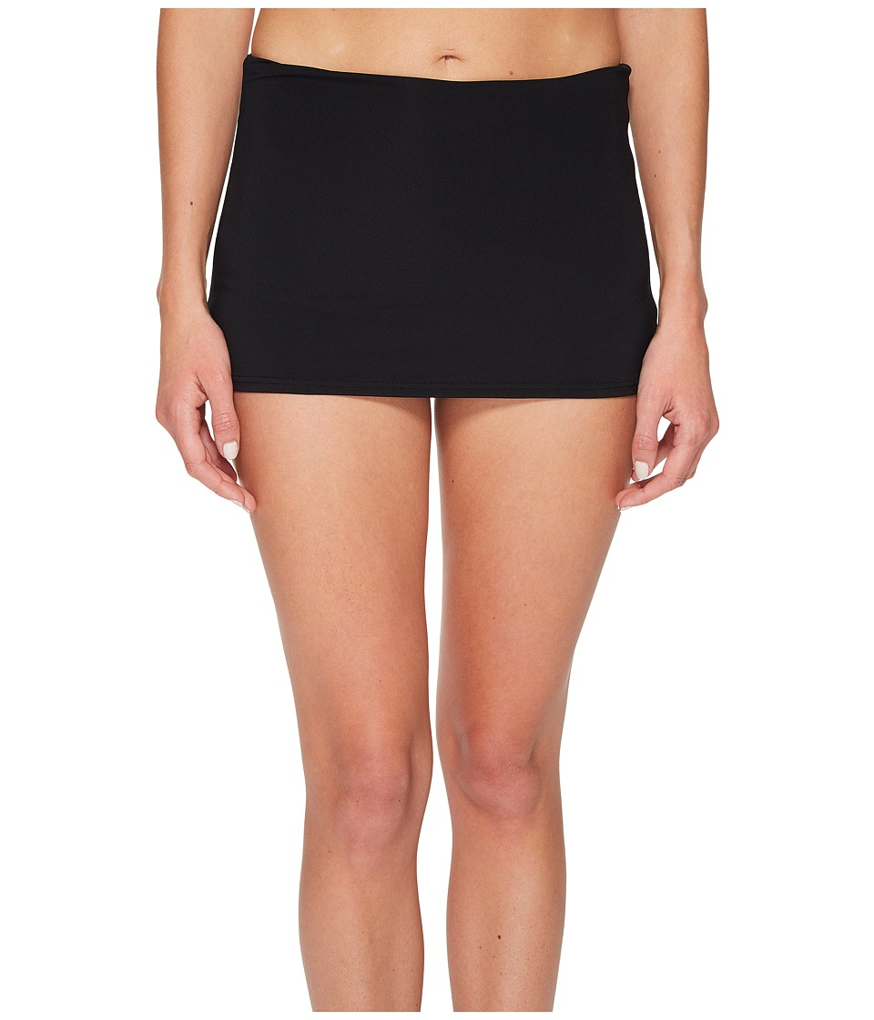Seafolly High-Waisted Skirted Pants (Black) Women