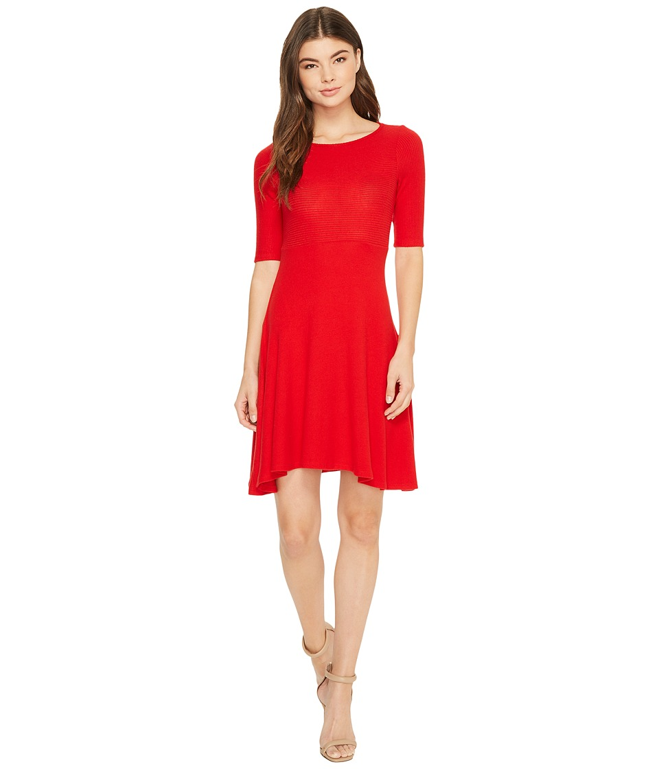 Three Dots Brushed Sweater Fit Flare Dress (Current) Women
