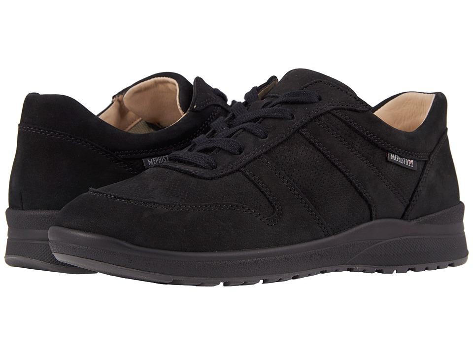 Mephisto Rebeca Perf (Black Bucksoft) Women's  Shoes