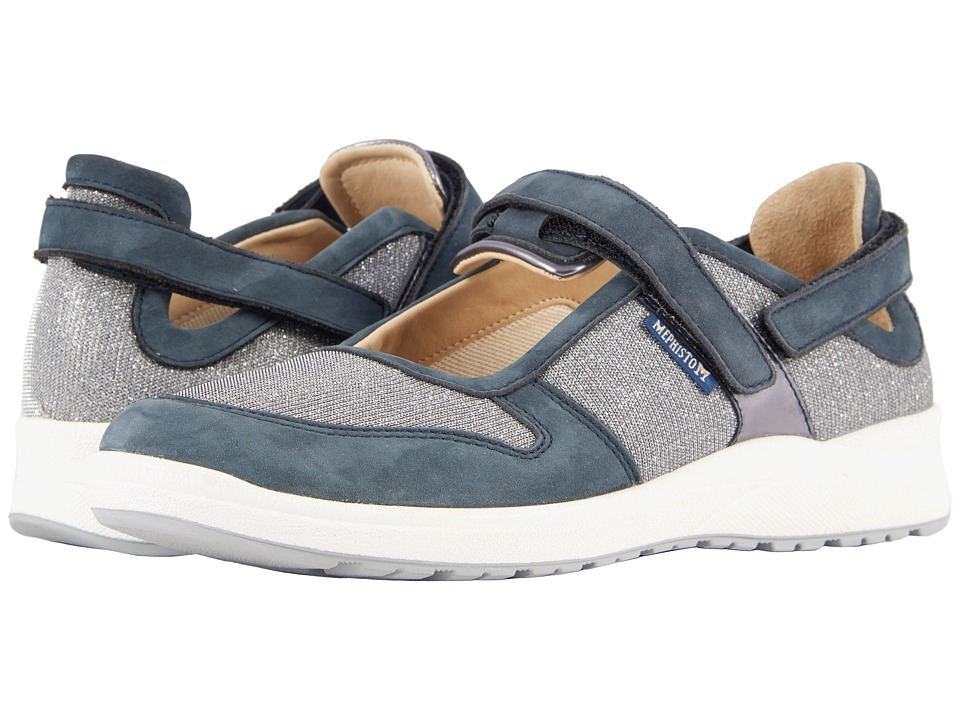 Mephisto - Rejine (Navy Softbuck/Silver) Womens  Shoes