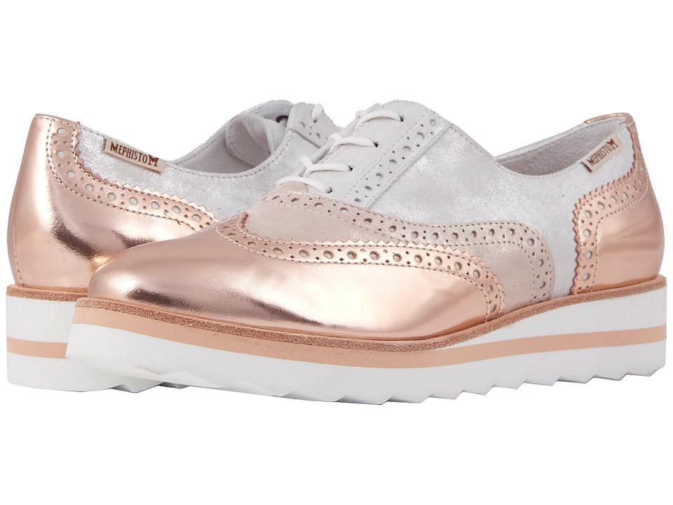 Mephisto - Tomasia (Nude Magic/Silver/Nude Monaco) Womens  Shoes