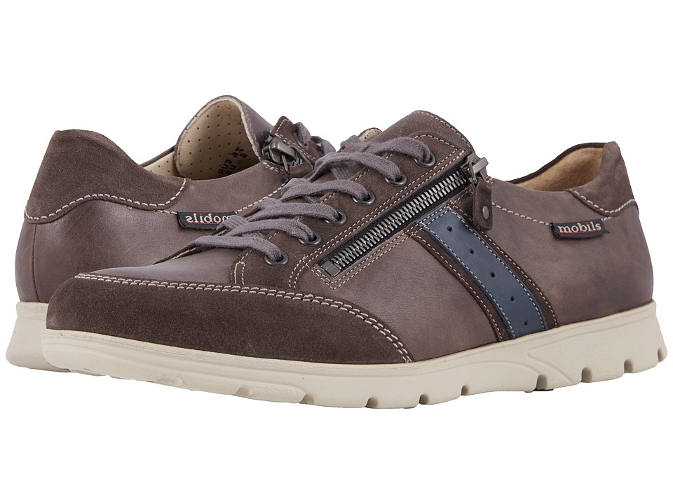 Mephisto - Kristof (Dark Grey Suede/Graphite/Navy Steve) Mens Lace up casual Shoes