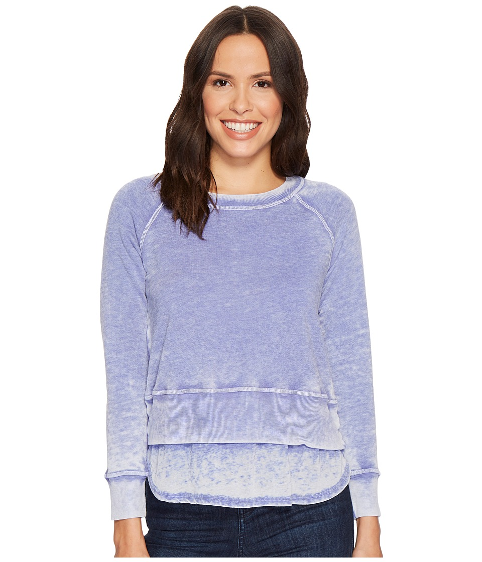 Allen Allen - Long Sleeve Crew Double Layer Top