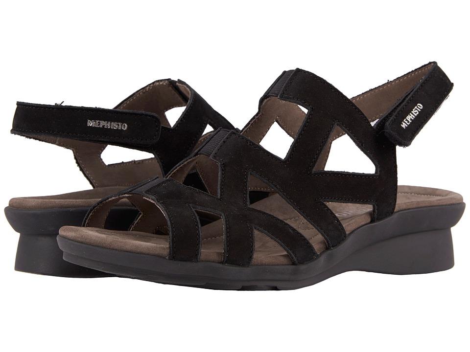 Mephisto - Pamela (Black Bucksoft) Womens  Shoes