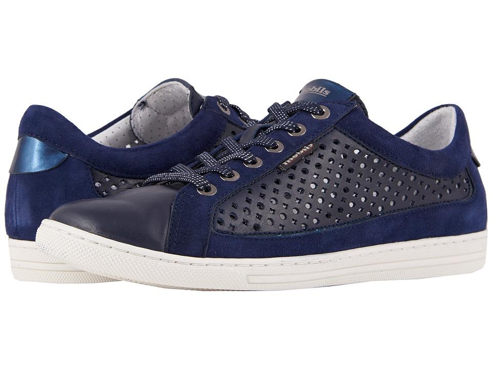 Mephisto - Hilda Perf (Navy Silk/Indigo Velcalf Premium/Blue Magic) Womens  Shoes