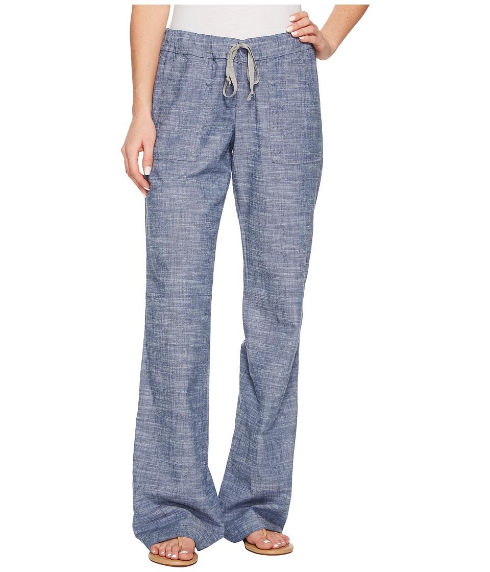 Allen Allen Slub Stretch Long Cargo Pants (Chambray) Women