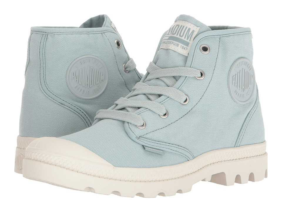 Palladium Pampa Hi (Gray Mist/Marshmallow) Women's Lace-up Boots