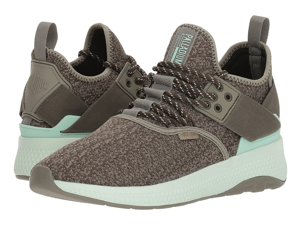 Palladium Ax Eon Lace Knitted (Vetiver/Olive Night/Misty Jade) Women's Shoes