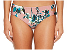 Splendid Watercolor Floral Reversible Keyhole Bikini Bottom