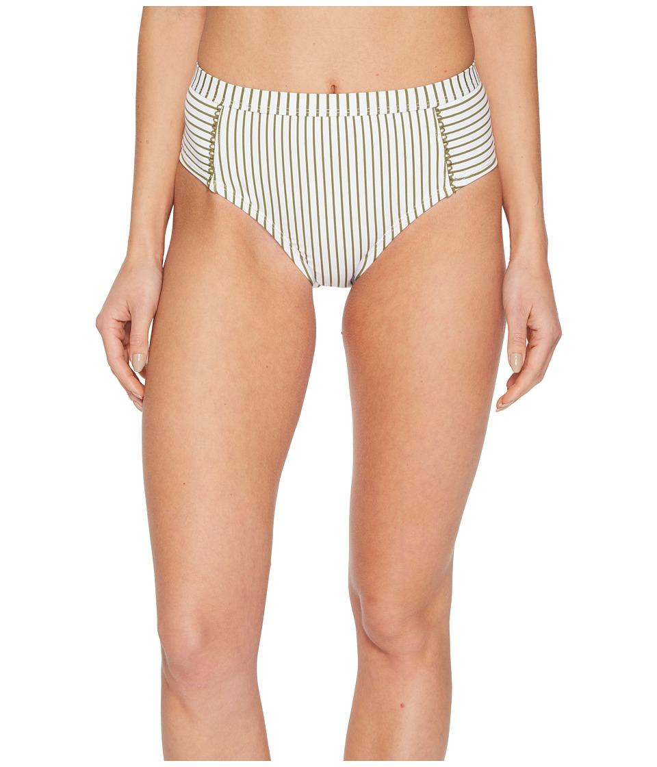 Splendid Picturesque High-Waist Bikini Bottom (Kiwi)