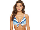 Splendid Tie-Dye Stripe Halter Bikini Top