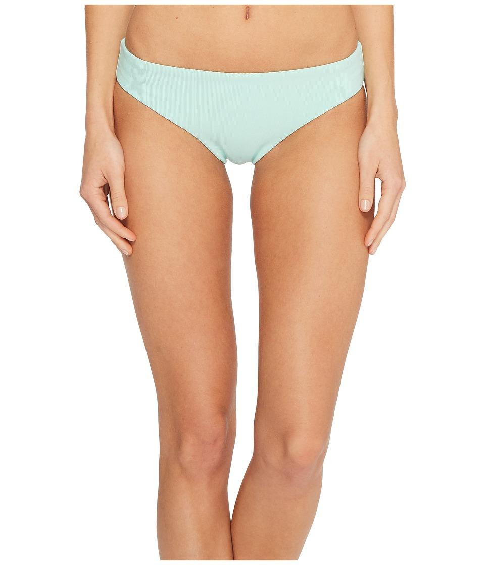 Splendid Color Block Retro Bikini Bottom (Aqua)