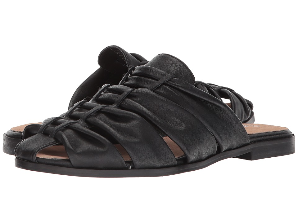Seychelles - Sacrifice (Black Leather) Womens Slide Shoes