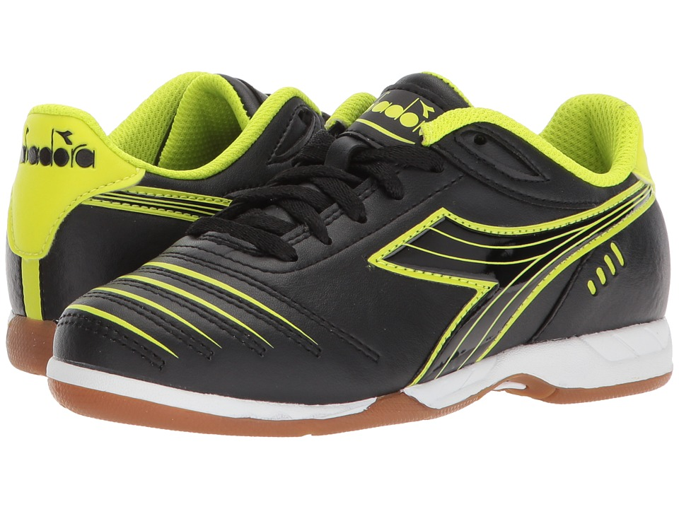Diadora Kids - Cattura ID JR Soccer (Little Kid/Big Kid) (Black/Yellow Flou) Kids Shoes