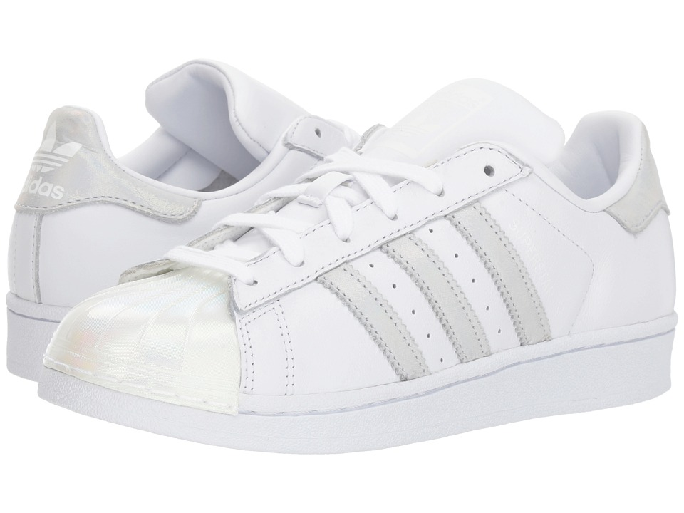 adidas Originals Kids - Superstar (Big Kid) (White/Iridescent) Girls Shoes