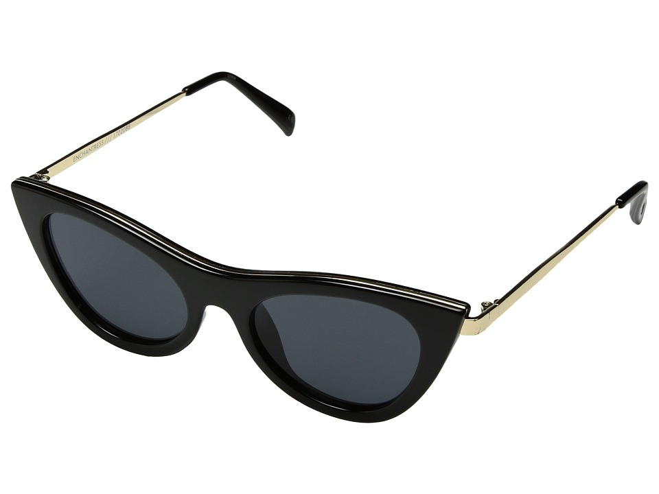 Le Specs Enchantress (Black/Smoke Mono) Fashion Sunglasses