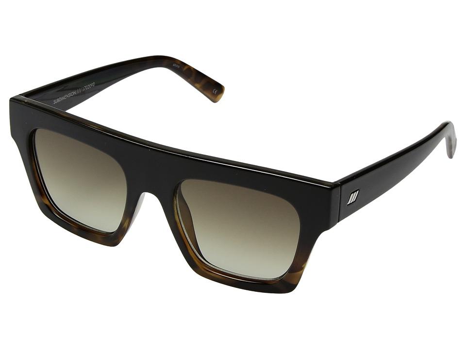 Le Specs - Subdimension (Black Tort/Khaki Grad) Fashion Sunglasses