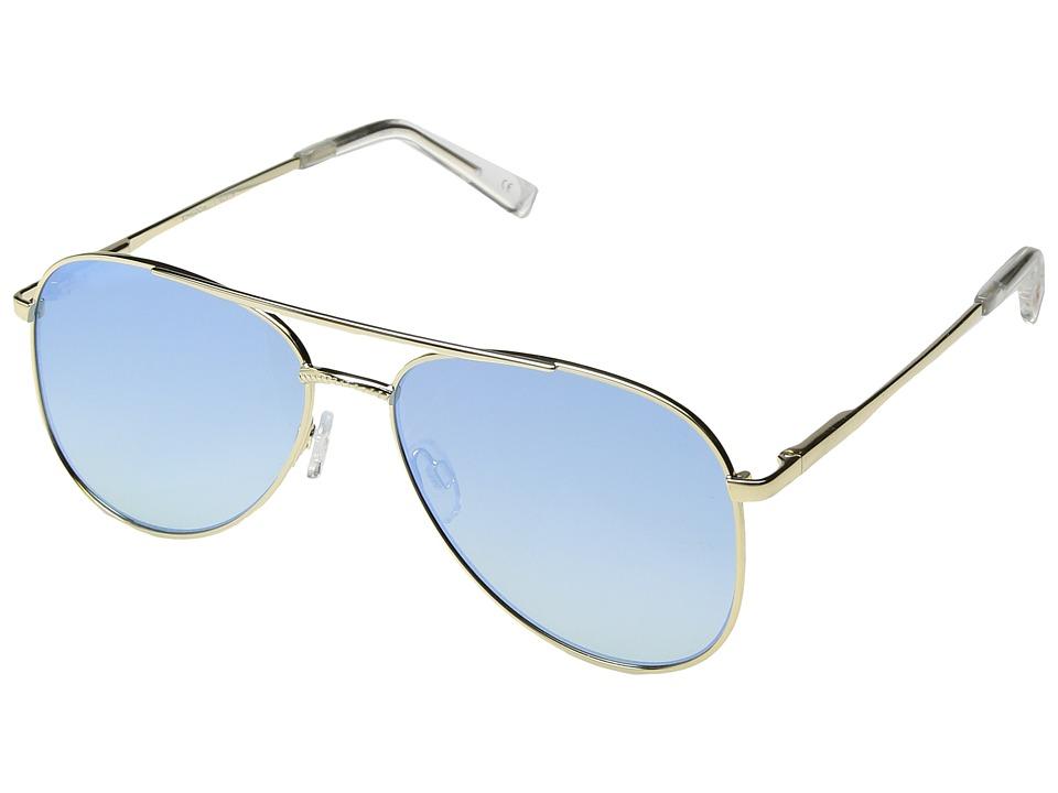 Le Specs - Kingdom (Bright Gold/Blue Grad Revo Mirror) Fashion Sunglasses