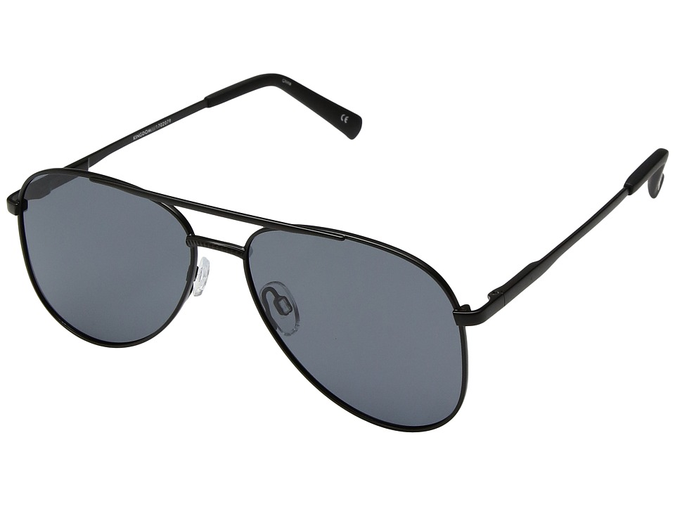 Le Specs Kingdom (Matte Black/Smoke Mono Polarized) Fashion Sunglasses