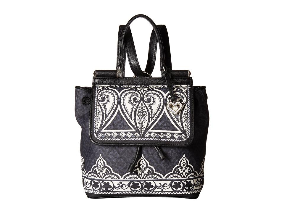 Brighton - Jasmine Convertible Backpack (Black/White) Backpack Bags