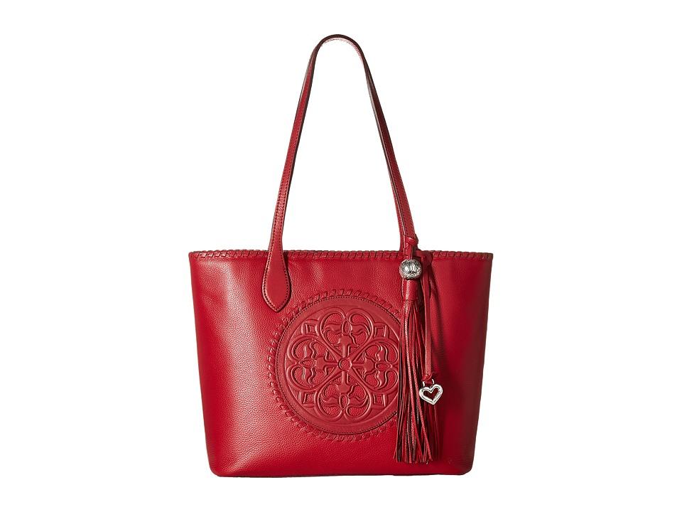 Brighton - Gabriella Medallion Tote (Lipstick) Tote Handbags