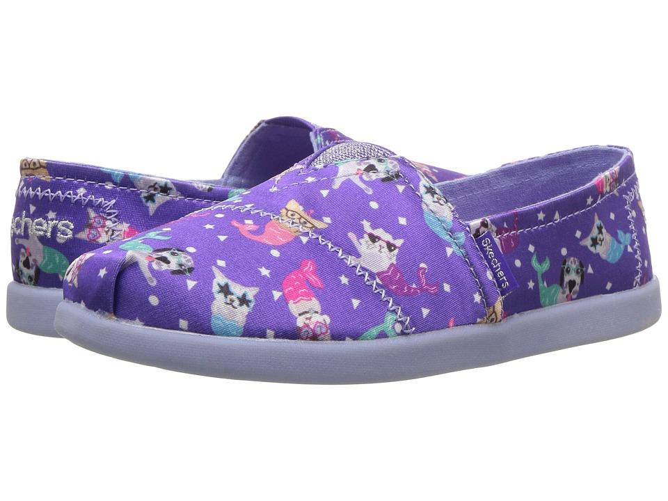 SKECHERS KIDS - Solestice 85288L (Little Kid/Big Kid) (Purple/Multi) Girls Shoes