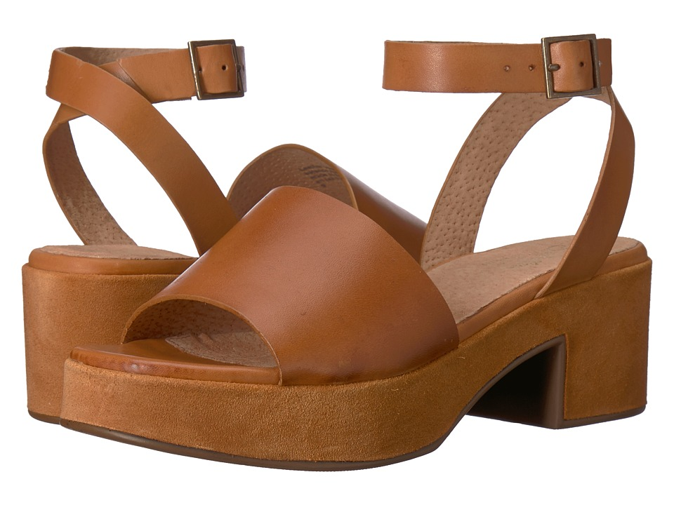 Vintage Sandals | Wedges, Espadrilles – 30s, 40s, 50s, 60s, 70s Seychelles - Calming Influence Tan LeatherSuede Womens 1-2 inch heel Shoes $119.95 AT vintagedancer.com