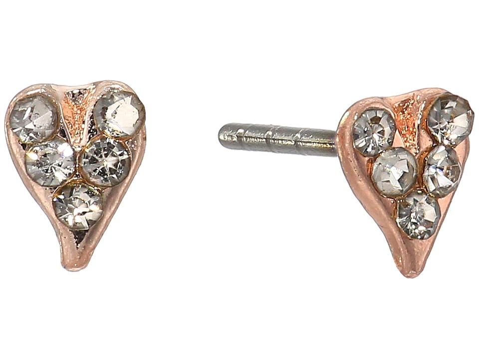 Rebecca Minkoff - Baby Heart Stud Earrings (Rose Gold) Earring