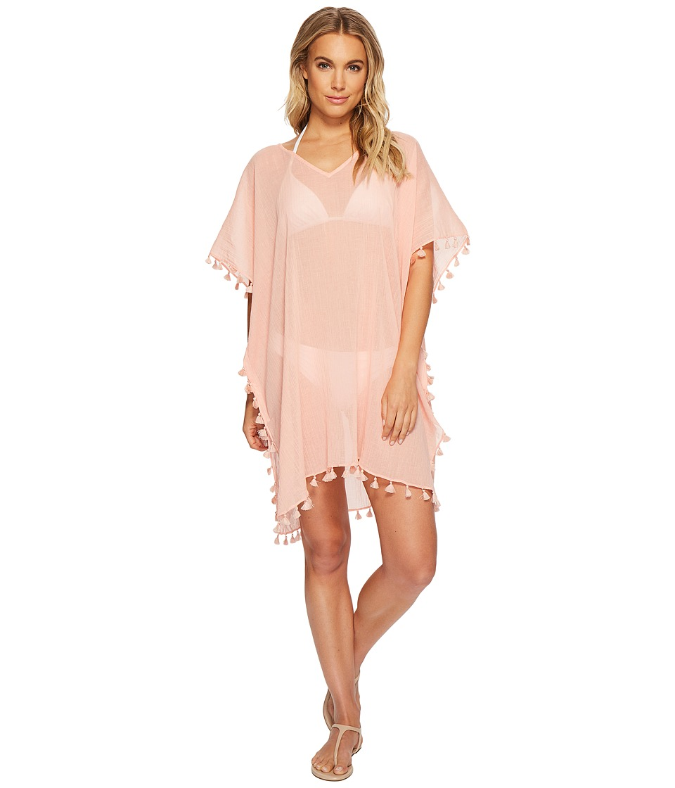 Seafolly Future Tribe Amnesia Kaftan Cover-Up (Peach Melba) Women
